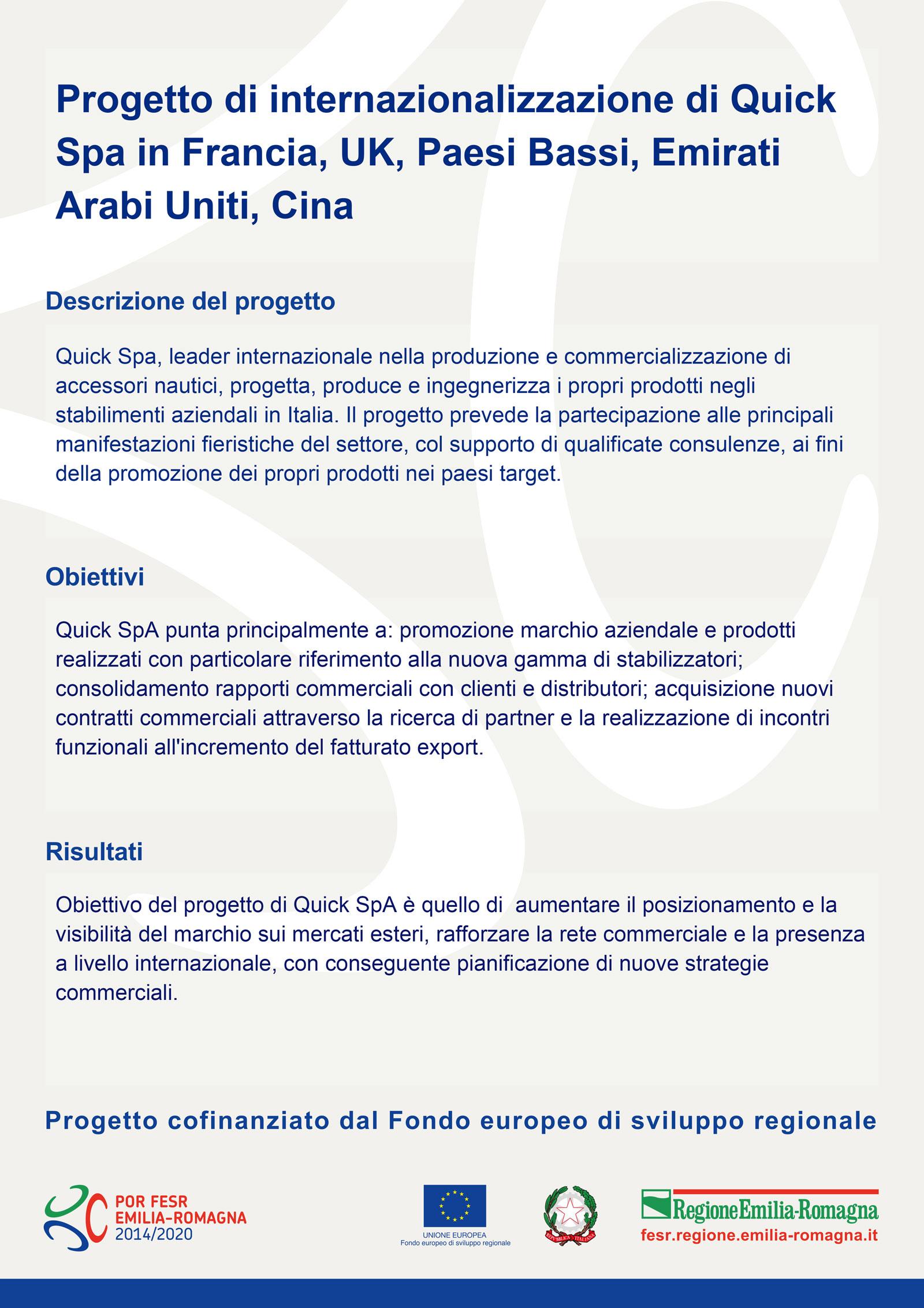 Progetto Internazionalizzazione Quick SPA