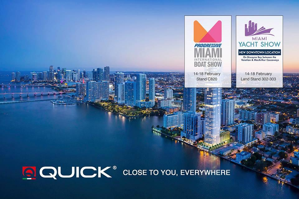 Quick al MIAMI Int. Boat Show e al Miami Yacht Show
