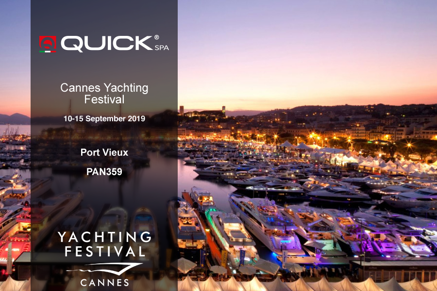 Quick SpA al Cannes Yachting Festival 2019