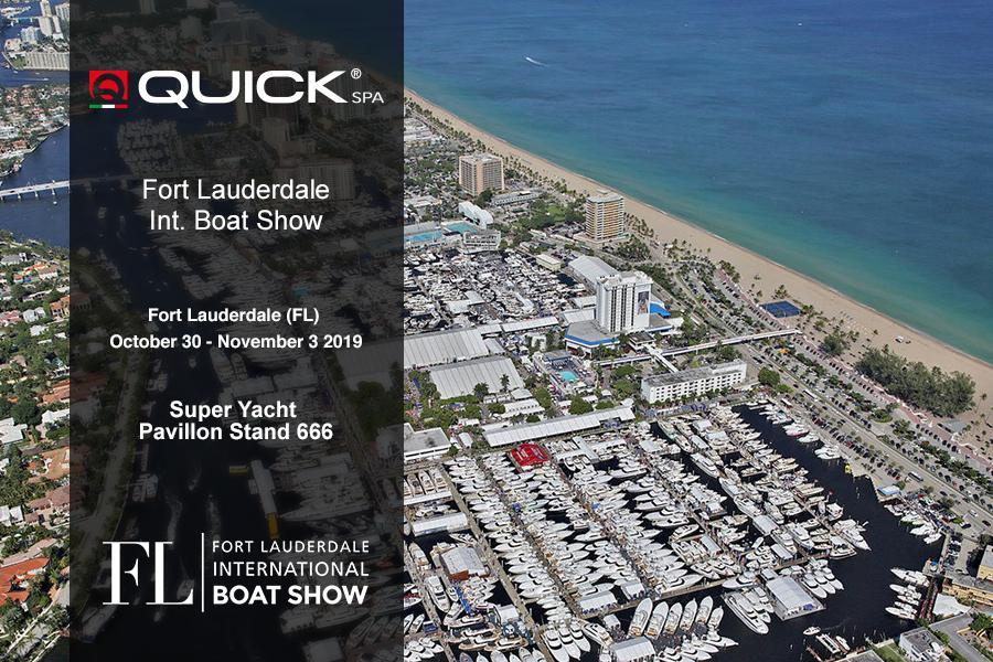 Quick SpA e Quick USA al Fort Lauderdale Int. Boat Show 2019