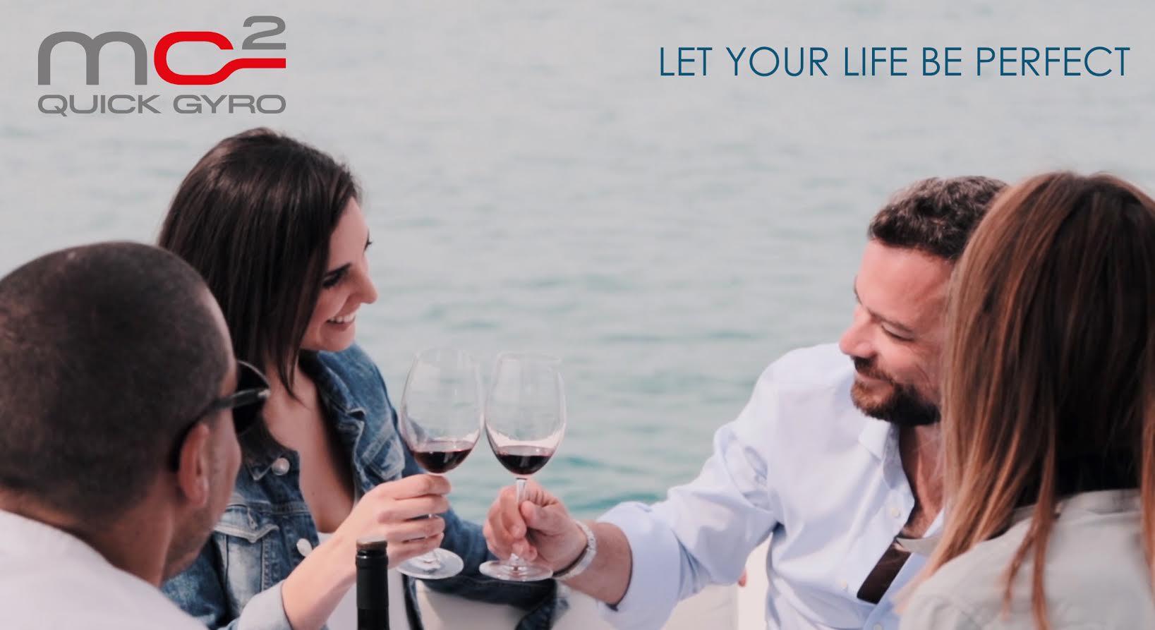 """Da oggi è online il terzo video della nuova  campagna  pubblicitaria della serie degli stabilizzatori """"MC² Quick Gyro:  Let your life be perfect""""."""