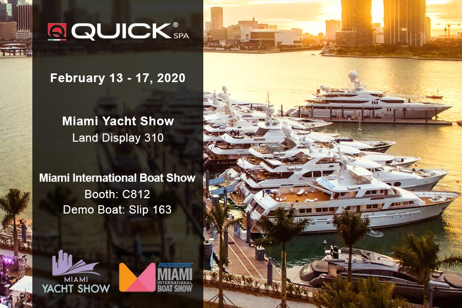 Quick Spa al Miami Yacht Show e Miami International Boat Show
